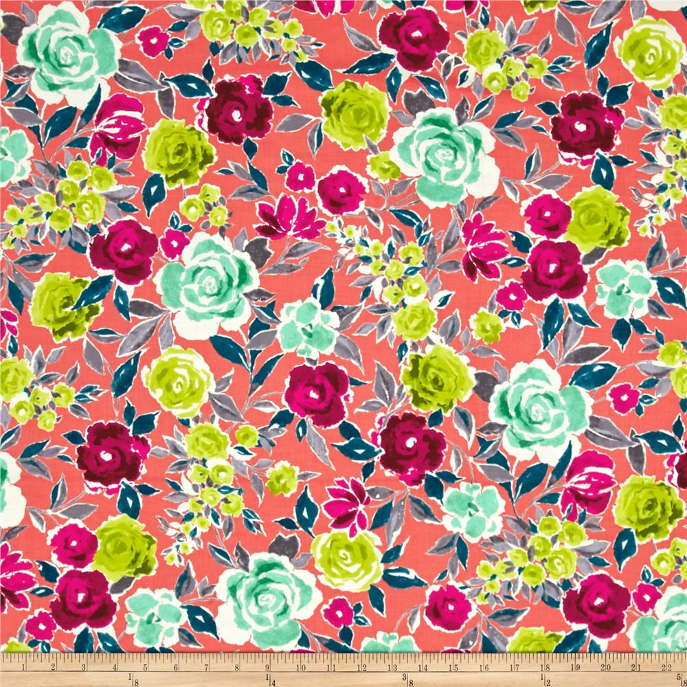 Ink & Arrow Zola Large Floral Coral