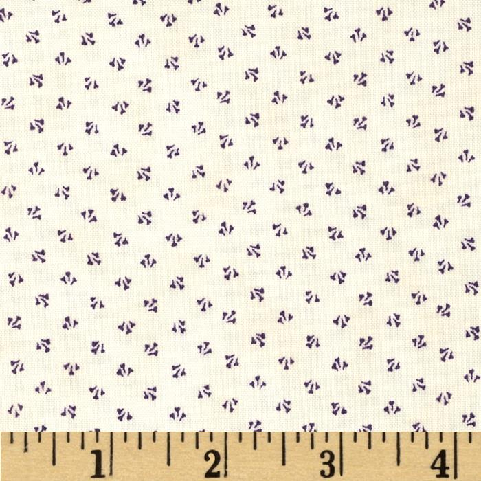 Penny Rose 19th Century Shirtings Petals Purple
