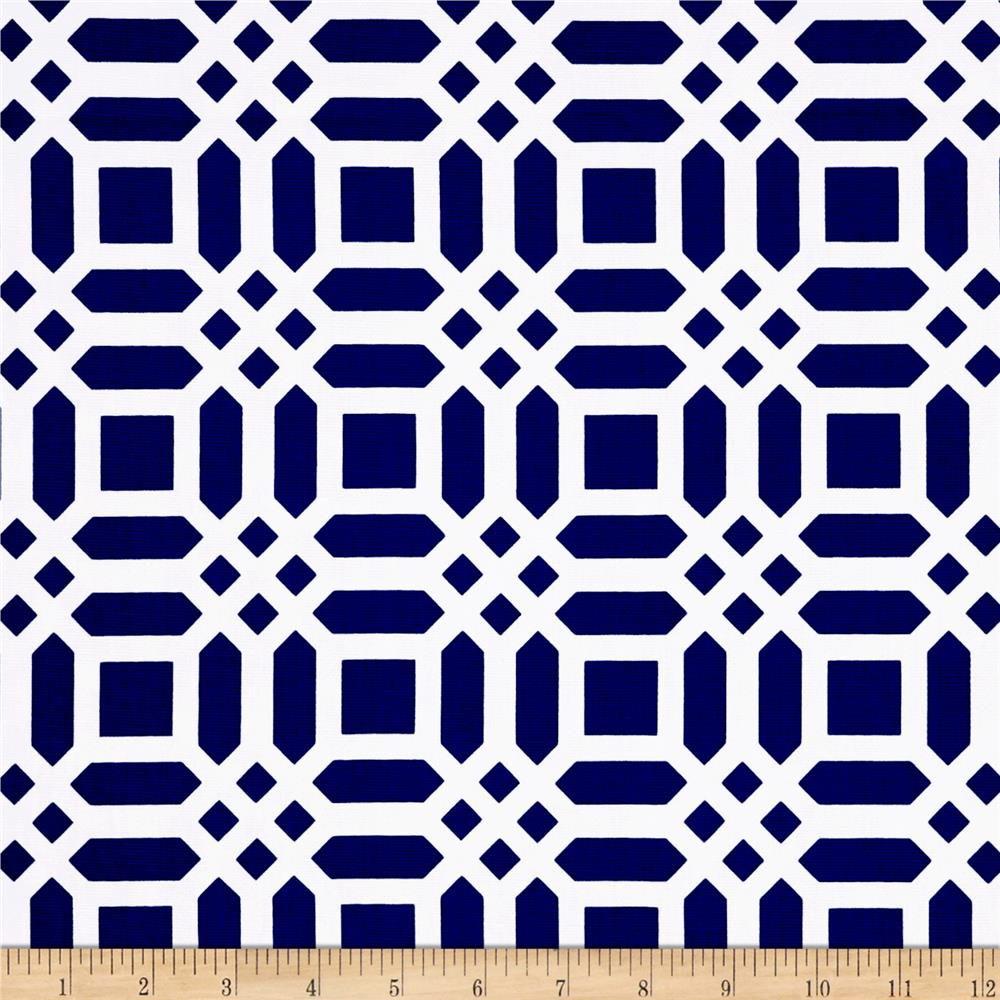 Riley Blake Chevron Medium Navy - Discount Designer Fabric - Fabric ...