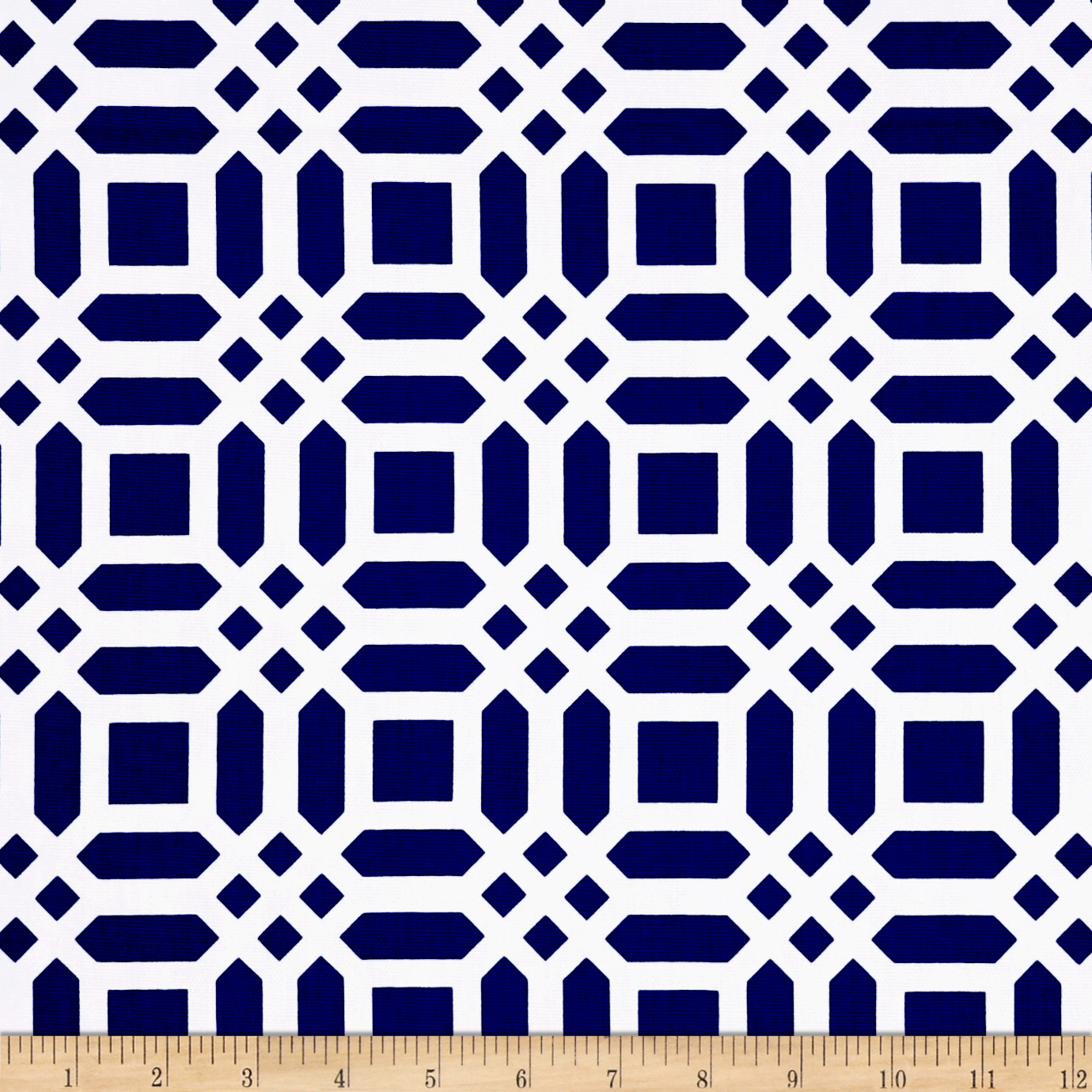 INOpets.com Anything for Pets Parents & Their Pets Riley Blake Home Decor Vivid Lattice Navy