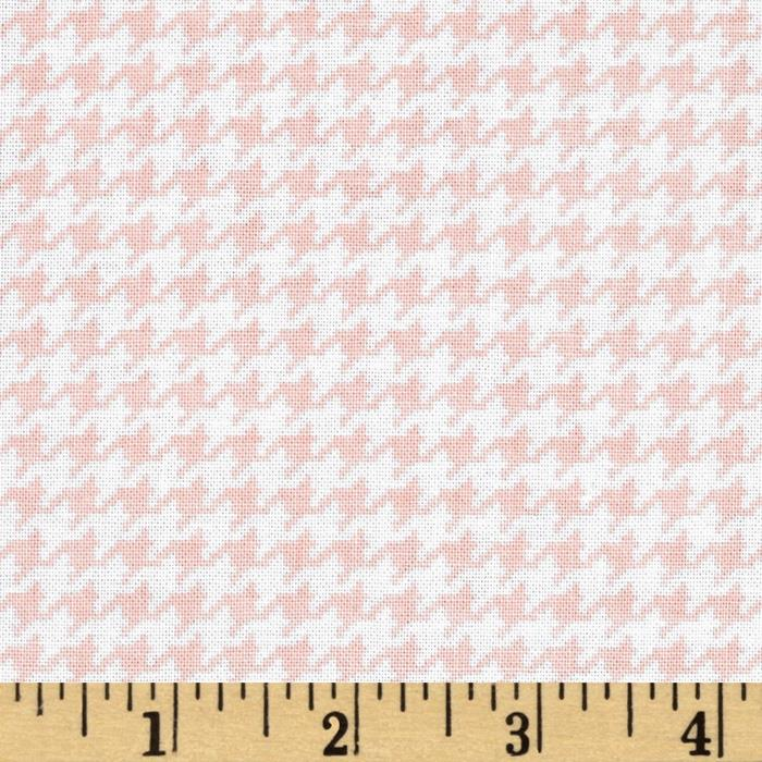 Michael Miller Tiny Houndstooth Blush