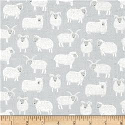 Lewis & Irene Country Life Woolly Sheep Country Blue