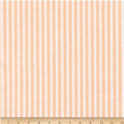 Aunt Polly's Flannel Stripes Apricot/White