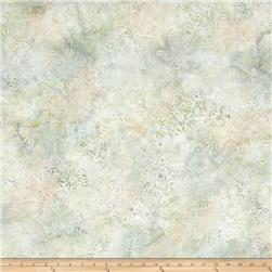 Batavian Batiks Flower Field Light Gray