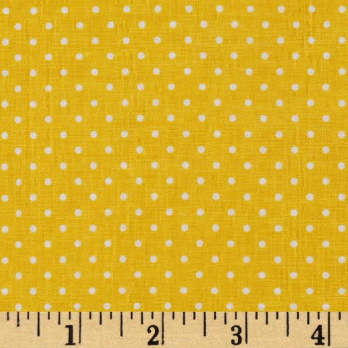 Riley Blake Swiss & Dots Yellow/White - Discount Designer Fabric ...