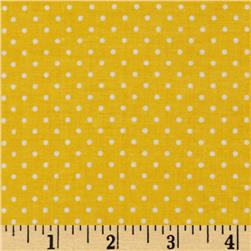 Riley Blake Swiss Dots Yellow/White