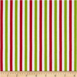 Riley Blake Cotton Jersey Small Stripes Christmas
