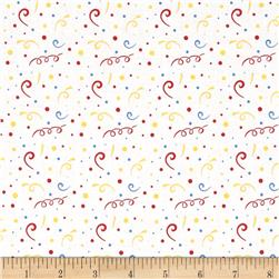 Riley Blake Holiday Banners 2 Birthday White Fabric