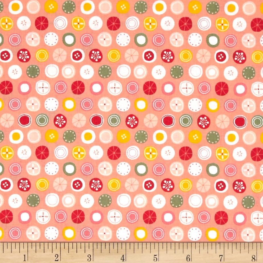 Tiny World Patterned Dots Peach