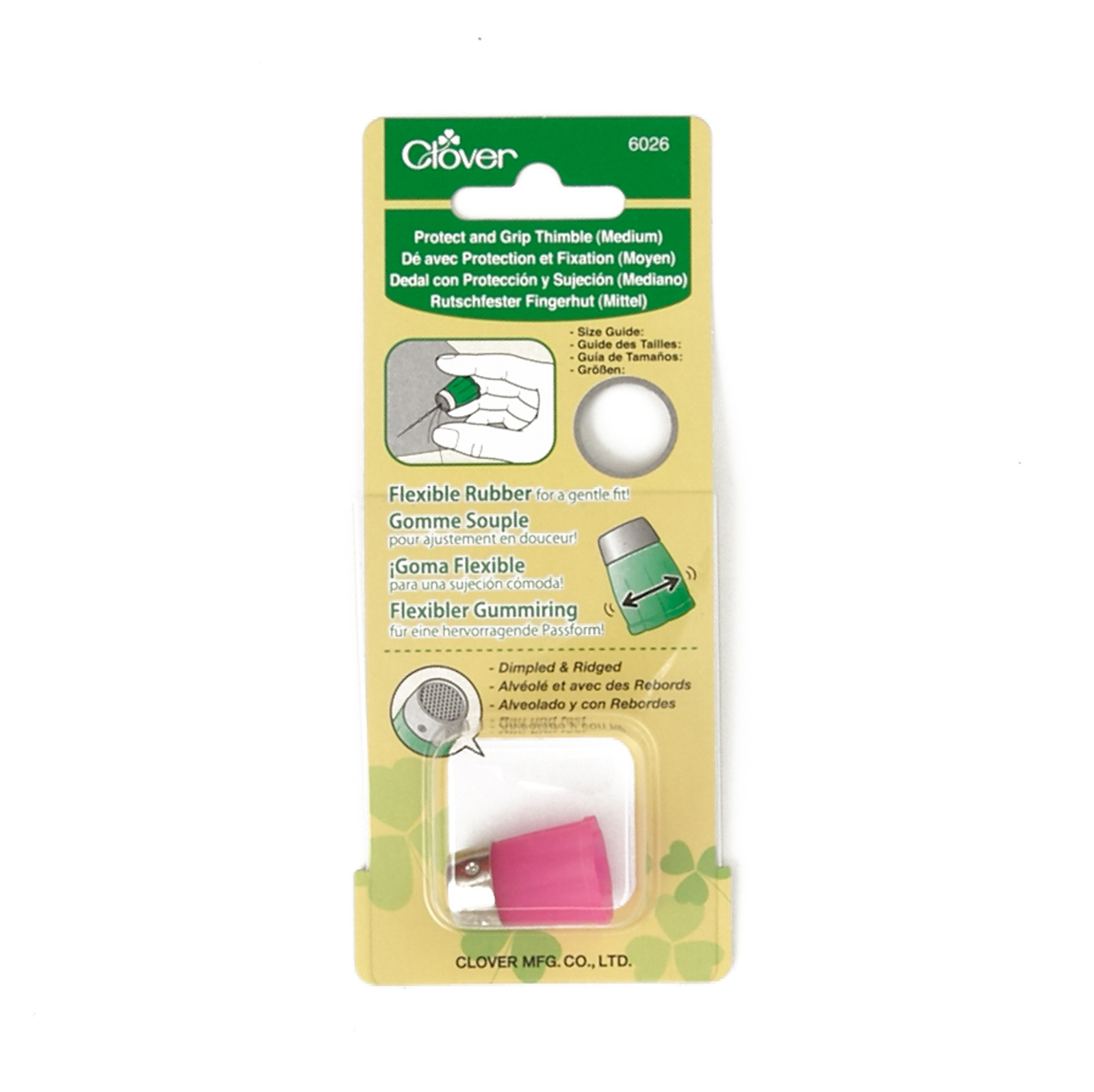 Combine into 0334097 Clover Protect & Grip Thimble Medium by Clover Needlecraft in USA