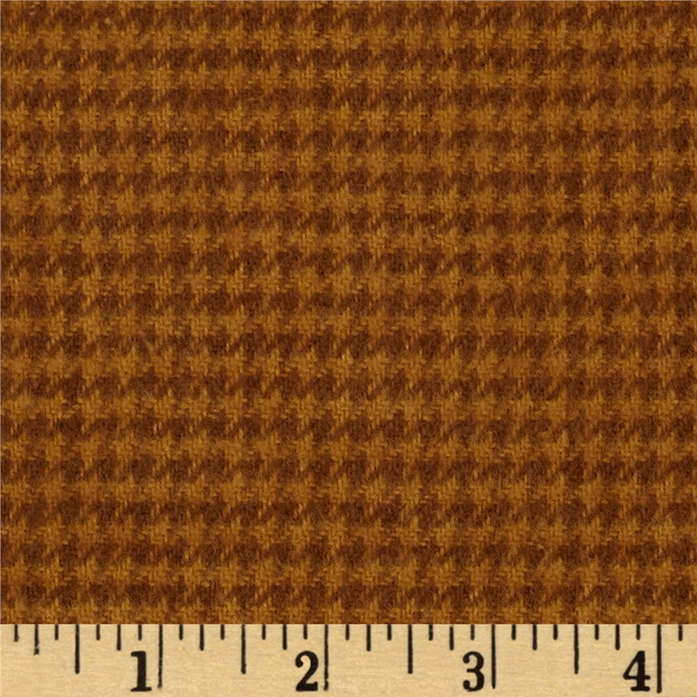 Cozy Yarn Dye Flannel Mini Houndstooth Carmel