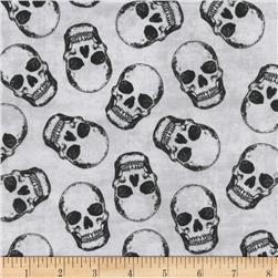 Timeless Treasures Skulls Black Fabric