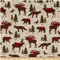 Woodland Retreat Flannel Animals Multi