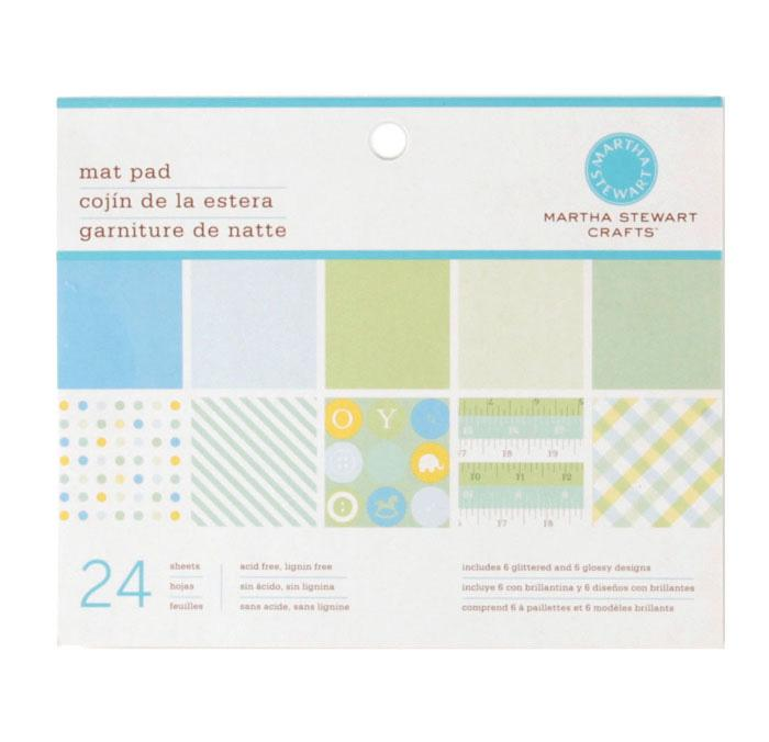 "Martha Stewart Crafts Mat Pad 4 3/4"" X 6 3/4"" Baby Boy"