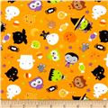 Riley Blake Cotton Jersey Knit Ghouls Main Orange