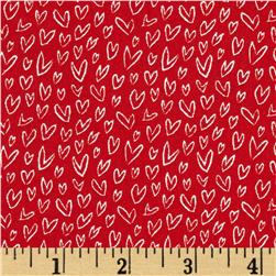 Dear Stella Woodwinked Mini Hearts Red