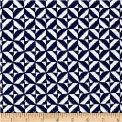 Ace Jacquard Knit Tile Blue/White
