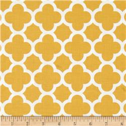 Riley Blake Medium Quatrefoil Mustard