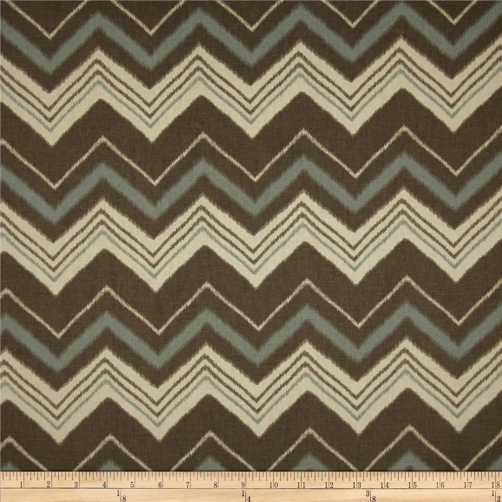 Swavelle/Mill Creek Terrabone Chevron Polar Blue