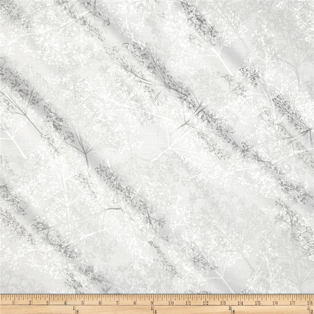 Sparkle & Fade Metallic Branches White/Silver