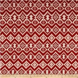 Hacci Sweater Knit Aztec Maroon/Cream