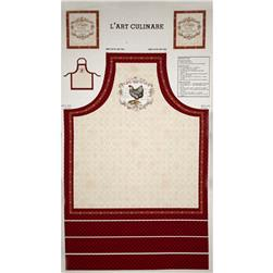 French Country Rooster Apron Panel Multi