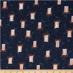 Cotton & Steel Lawn Homebody Window Vine Navy