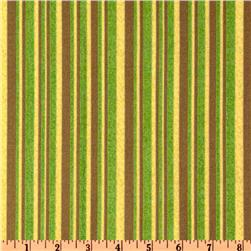 Animals Around The World Stripes Brown/Lime