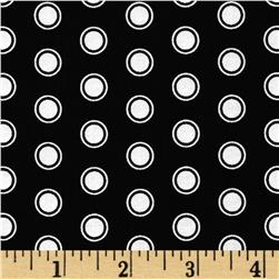Riley Blake Evening Blooms Dots Black