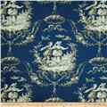 Richloom Sweet William Toile Twill Royal