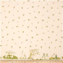 Lecien Kate Greenaway Border Print Pink