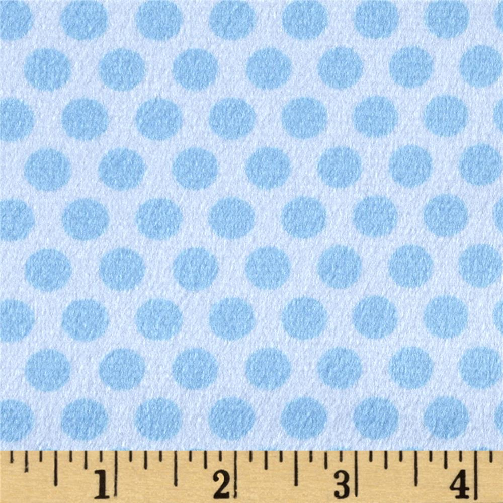 Minky 2 Tone Dot Light Blue