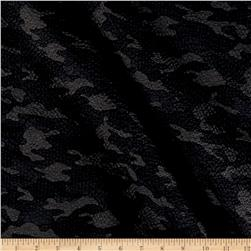 Kaufman Sevenberry Plisse Collection Camo Charcoal