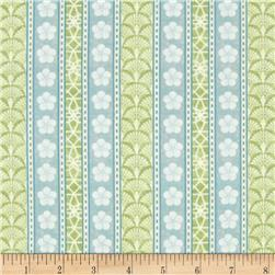 Serenity Garden Ticking Stripe Green/Teal