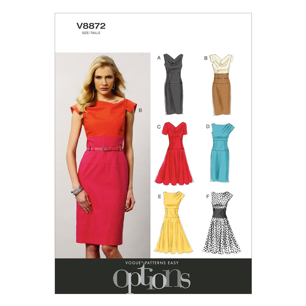 Vogue Misses' Dress Pattern V8872 Size A50