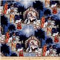Susan Winget Old World Christmas Blessed Birth Scene Blue