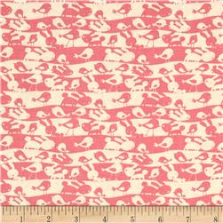 Garden Animal Stripe Pink