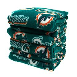 Three Pound NFL Fleece Remnant Bundle Miami Dolphins