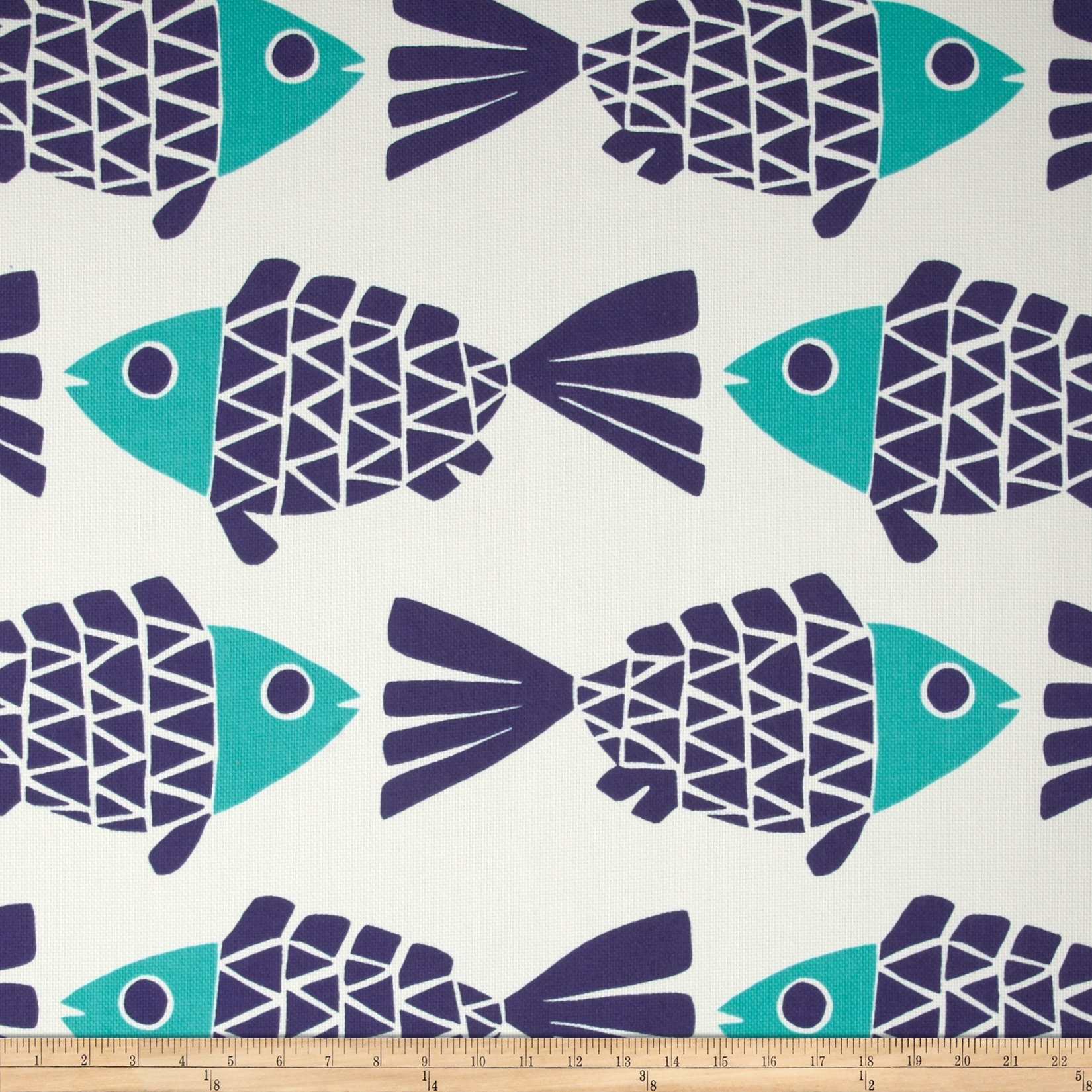 P Kaufmann Indoor/Outdoor Go Fish Blue Marine Fabric