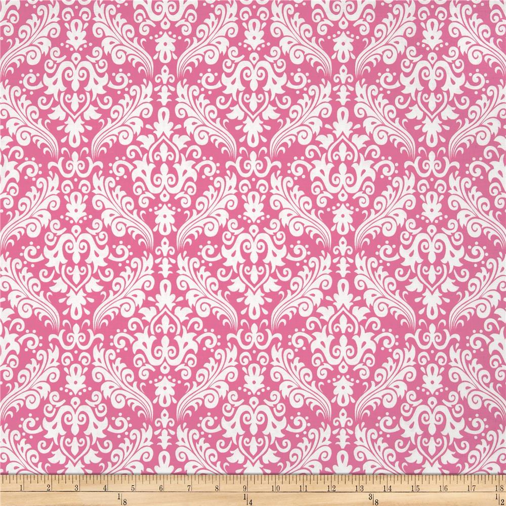 Riley Blake Medium Damask Hot Pink