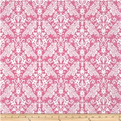 Riley Blake Medium Damask Hot Pink Fabric