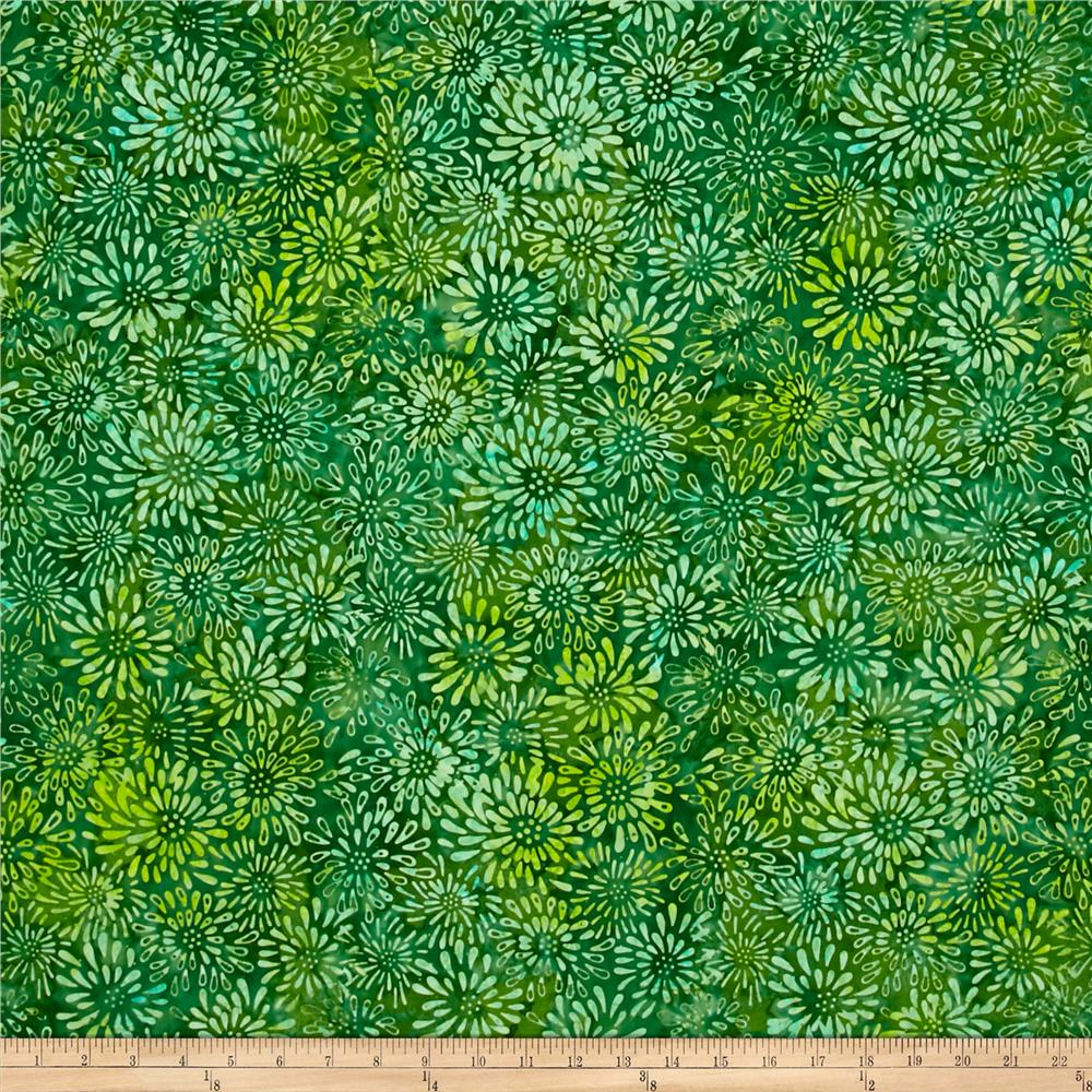 Wilmington Batiks Dancing Petals Green