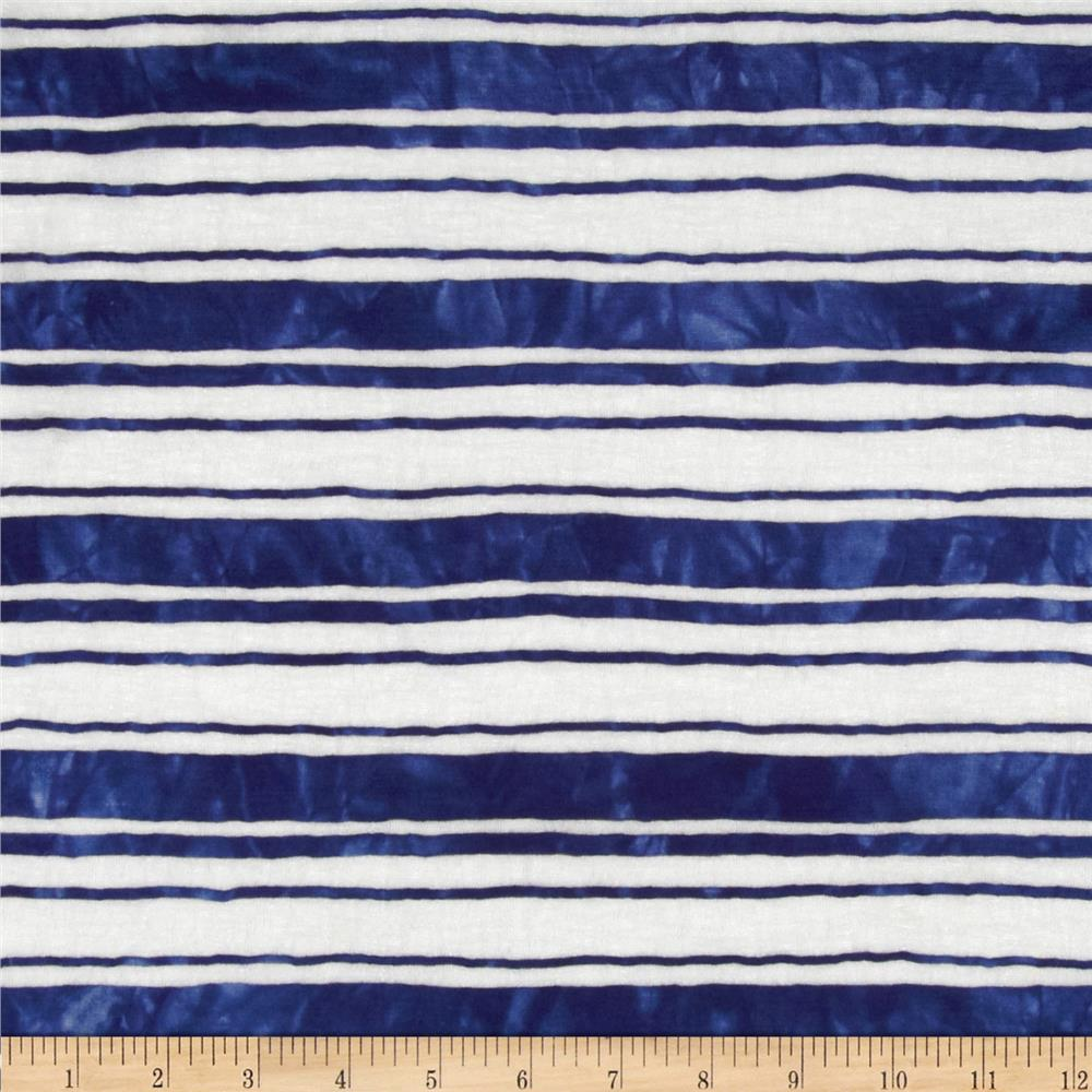 Onion Skin Striped Jersey Knit Navy/White