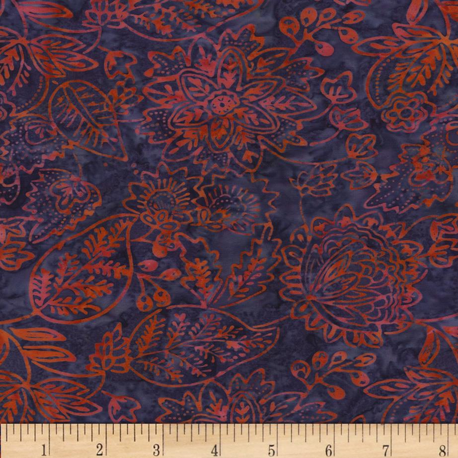 Timeless Treasures Tonga Batik Carnivale Embroidery Grape