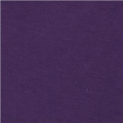 Cotton Jersey Knit Solid Dark Purple