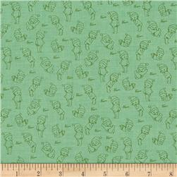 Riley Blake Kewpie Christmas Tonal Green