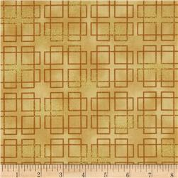 Oriental Traditions Metallic Plaid Gold