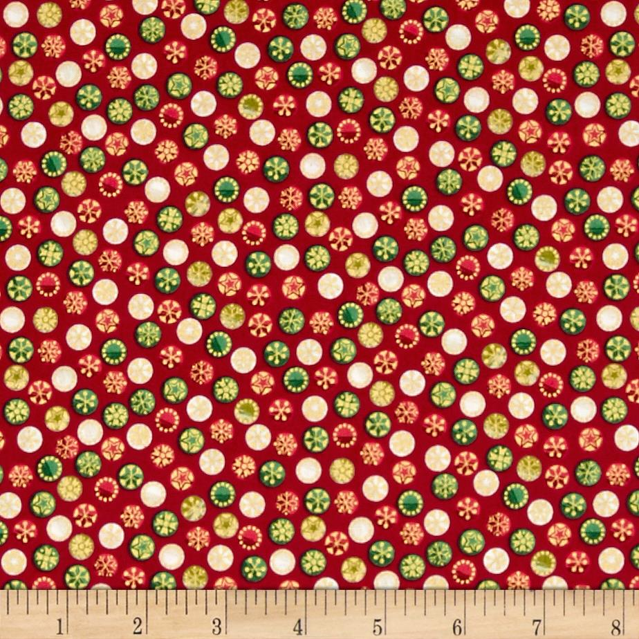 Traditional Metallic Christmas Bauble Spot Red