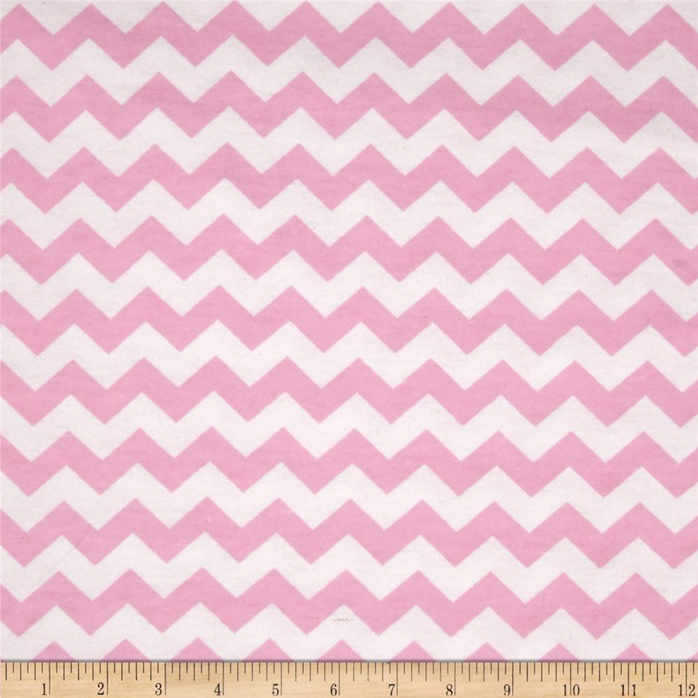 Flannelland Simply Chevron Pink