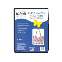 Bosal In-R-Form Double Sided Fusible 1/2 yard Foam Stabilizer Black